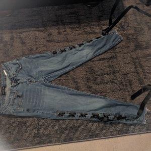 Fashion Nova medium blue jeans